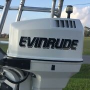 2 - Evinrude Outboard Stickers Decals Message Befor U Buy For Hp Or V6 Decals