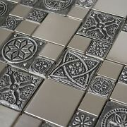 Stainless Steel Metal Mosaic Tile For Kitchen Backsplash Fireplace And Wall Decor