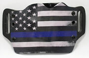 Thin Blue Line Owb Kydex Holster For 1911, Beretta, Bersa, And Browning