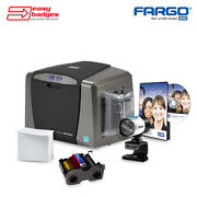 Fargo Dtc1250e Complete Double Sided Id Card System With Camera
