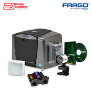 Fargo Dtc1250e Complete Double Sided Id System With Camera For Mac And Pc
