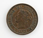 1881-h Canada 1 Cent Coin Xf Extra Fine Condition