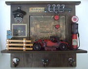 Decorative Wall Hanger Red Motor Car /hand Painted /ornament /gift