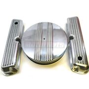 Nostalgic Small Block Ford Polish Aluminum Fin Valve Covers Air Cleaners Sbf