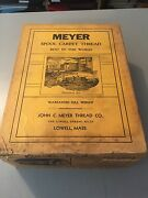 Case Lot Of 12 Vintage John C. Myer Red Carpet Thread, Lowell Ma, No. 18