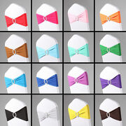 50pcs Spandex Chair Band With Buckle For Chair Cover Wedding Decor Party