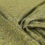 Unique Textured Basket Weave Heavyweight Green Furnishing Upholstery Fabric