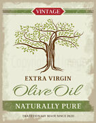 Vintage Olive Oil Metal Tin Sign Poster Wall Plaque