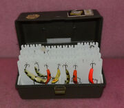 Vintage Lure Arranger Fishing Box With Lures.