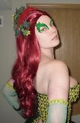 Poison Ivy Wig And Headband Cosplay Costume