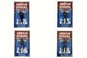 American Diorama Police Officers Set Of 4 1/18 Scale Figurines Diecast Accessory