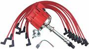 Sbc Chevy 283 327 350 383 Hei Distributor 8mm Spark Plug Wires Over Valve Cover