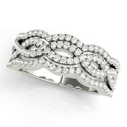 0.6 Carat Total Weight Four Row Diamond Anniversary Band With Infinity Design