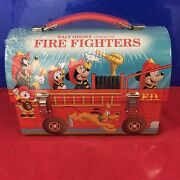 Hallmark School Days Lunchboxes Disney Fire Truck 2000 New In Wrapping