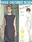 1960s Vintage Vogue Sewing Pattern B34 Dress 1717 By Ronald Paterson