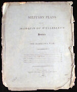 Military Plans For The Marquis Of Wellesley's History Of The Marhatta War 1804 1