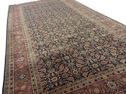 5' X 10' Navy Blue Fine Quality Geometric Oriental Rug Wide Runner Hand Knotted