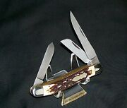 Schrade 897uh Knife Uncle Henry Premium Stockman 1980's New Old Stock No Box Usa