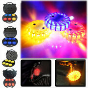 6pcs Rechargeable Emergency Led Road Flare Hazard Warning Light W/ Charger Andcase