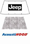 1972 1986 Jeep Cj-7 Under Hood Cover With J-001 Jeep