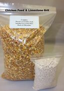 Mixed Corn Poultry Feed And Poultry Grit Twin Pack - Poultry Ducks Pheasants