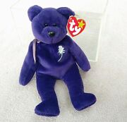 Princess Diana 1997 Retired Beanie Baby 1st Edition Pe Made In China Ty