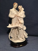 Guiseppe Armani Sculpture Happy Forever Wedding Bride And Groom 0791f Retired
