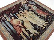 5'.8 X 6'.0 Square French Aubusson Oriental Wall Tapestry Hand Knotted Wool