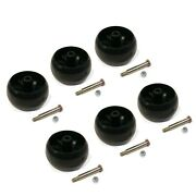 Pack Of 6 Smooth Deck Wheel With Bolt And Nut For Husqvarna 174873 And 532174873