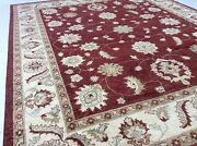7and039.11 X 9and039.9 Burgundy Rust Ziegler All-over Oriental Area Rug Handknotted Wool