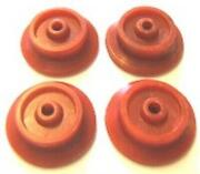 4 Red Plastic Wheels Franklin Washington For American Flyer Steam Engine Parts