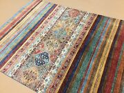5'.7 X 7'.3 Multicolor Fine Oushak Oriental Area Rug Hand Knotted Wool Foyer
