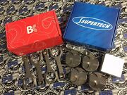 Supertech Pistons Brian Crower Rods For Acura Integra Ls B18a B18b 84.5mm 10.41