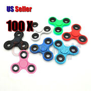 100x Hand Spinner Tri Fidget Spin Toy Edc Finger Adhd Gyro Wholesale Lot