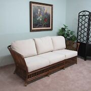 Rattan Sofa Couch Cushions Made In Usa Delivered Fully Assembled