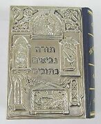 925 Sterling Silver Electroforming Handmade Mounted Bible In Hebrew And English