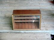 A 1950and039s Rexall Revlon Store Counter Top Display Case Scissors Clippers Tweezers