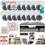 16 Channel Hd Security Camera System Cctv Day Night Vision All-weather Cams. 2tb