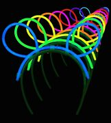 6 8 Glow Sticks Heart Eye Glasses 20 Necklaces Bunny Ears Light Party