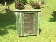 Primitive Meat Or Pie Safe Four Shelved Handmade Americana Country