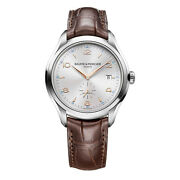 Baume And Mercier Clifton Brown Leather Strap Swiss Automatic Menand039s Watch 10054