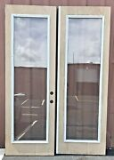 Used Double Glass Doors With Inserts