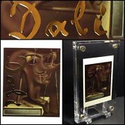 Exclusive Salvador Dali Limited Gold Foil Leaf Playing Trade Card Uncirculated