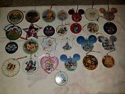 Assorted Disney Porcelain Christmas Ornaments, Different Years, Rare Collectible