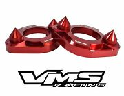 X2 Red Vms Racing Spiked Strut Tower Support Braces For 94-01 Acura Integra Dc2