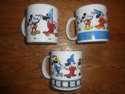 Mickey Mouse Coffee Mug Cup Collection 18 Pieces Used Free Shipping