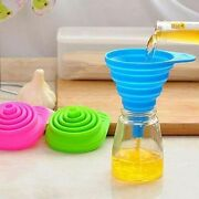 Silicone Collapsible Foldable Silicon Kitchen Folding Funnel Hopper Gel Uk Stock