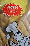 Vintage Nos Duro Matching Barbecue Set With Teflon Apron-hat-mitts Bbq