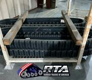 Two New Rubber Tracks Straight Bar Style For New Holland Lt185 450x86x52 17.7
