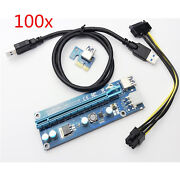 100pcs Usb 3.0 Pcie Pci-e Express 1x To 16x Extender Riser Card Adapter Cable